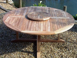 Teak 180cm Round Pedestal Table