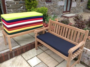 2 Seater Bench Cushion Black