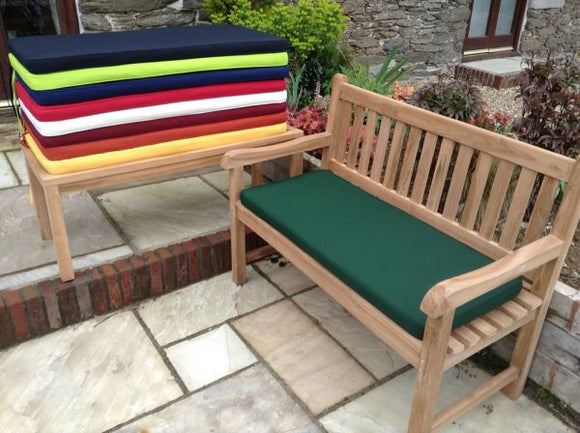 2 Seater Bench Cushion Green