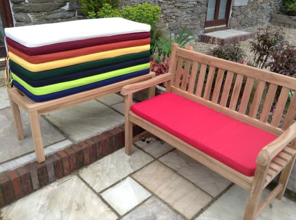 2 Seater Bench Cushion Red