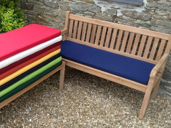 3 Seater Bench Cushion Blue