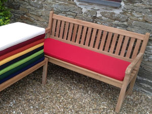 3 Seater Bench Cushion Red