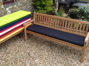 4 Seater Bench Cushion Black
