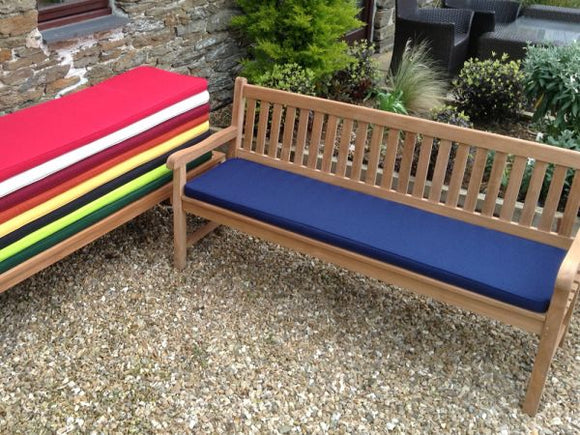 4 Seater Bench Cushion Blue