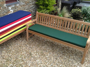 4 Seater Bench Cushion Green