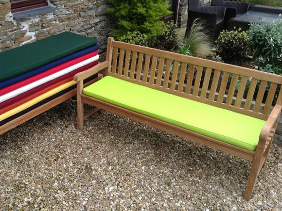 4 Seater Bench Cushion Light Green