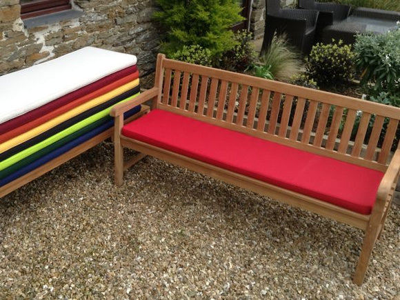 4 Seater Bench Cushion Red