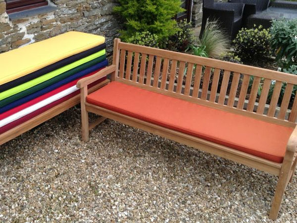 4 Seater Bench Cushion Terracotta
