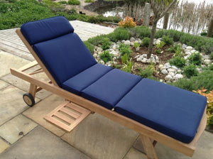 Sunlounger Cushion Blue