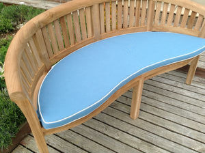 Luxury Banana Bench Cushion Light Blue