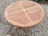Teak 100cm Round Pedestal Table