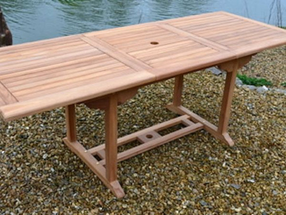 Teak 150-210x80cm Rectangular Extending Table