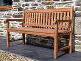 3 Seater Rectangular Coffee Table Teak Set with Classic Garden Bench