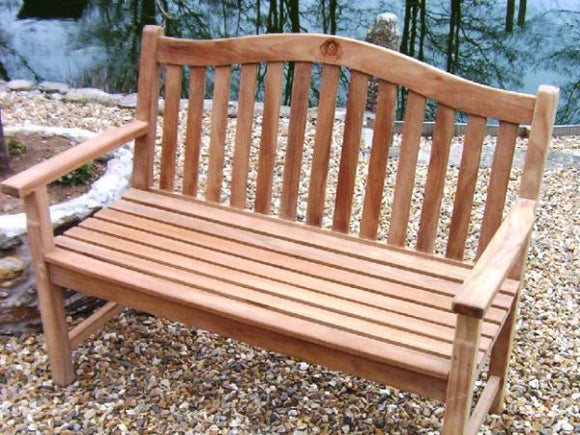 Rose 3 Seater Teak Garden Bench - 5ft/150cm