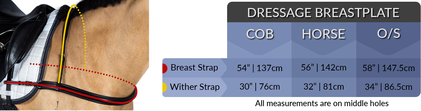 dressage breastplate measuring chart