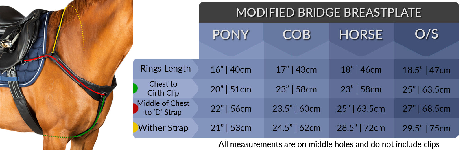 modified bridge measuring chart