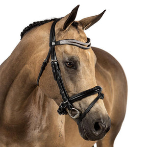BRI001 BLACK MONOCROWN SCHOOLING BRIDLE $119.80-$209.75
