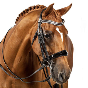 BRI006 BLACK GEL DOUBLE BRIDLE - ALL ENGLISH DISCIPLINES $224.80-$389.70
