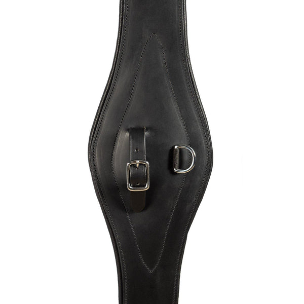 LONG GEL PADDED BELLY GIRTH - BLACK - Flexible Fit Equestrian Australia