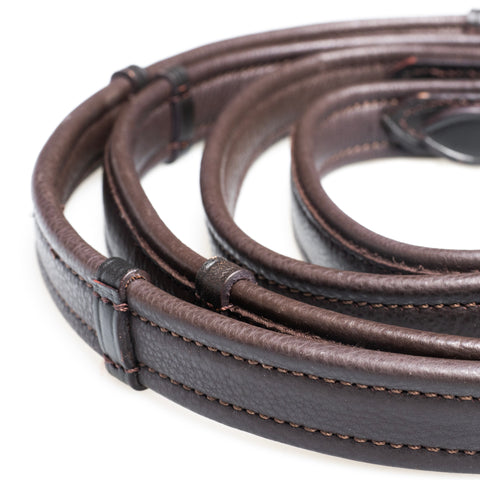 SHOW PADDED LEATHER WITH CONTINENTAL STOPPERS HAVANA REINS