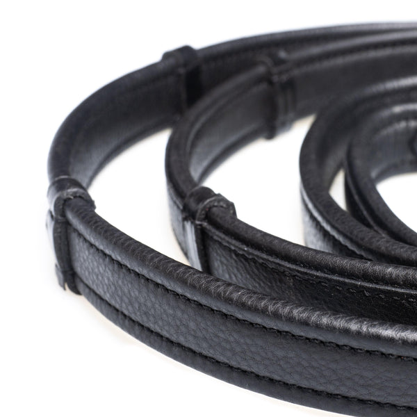 SHOW PADDED LEATHER WITH CONTINENTAL STOPPERS BLACK REINS - Flexible Fit Equestrian Australia