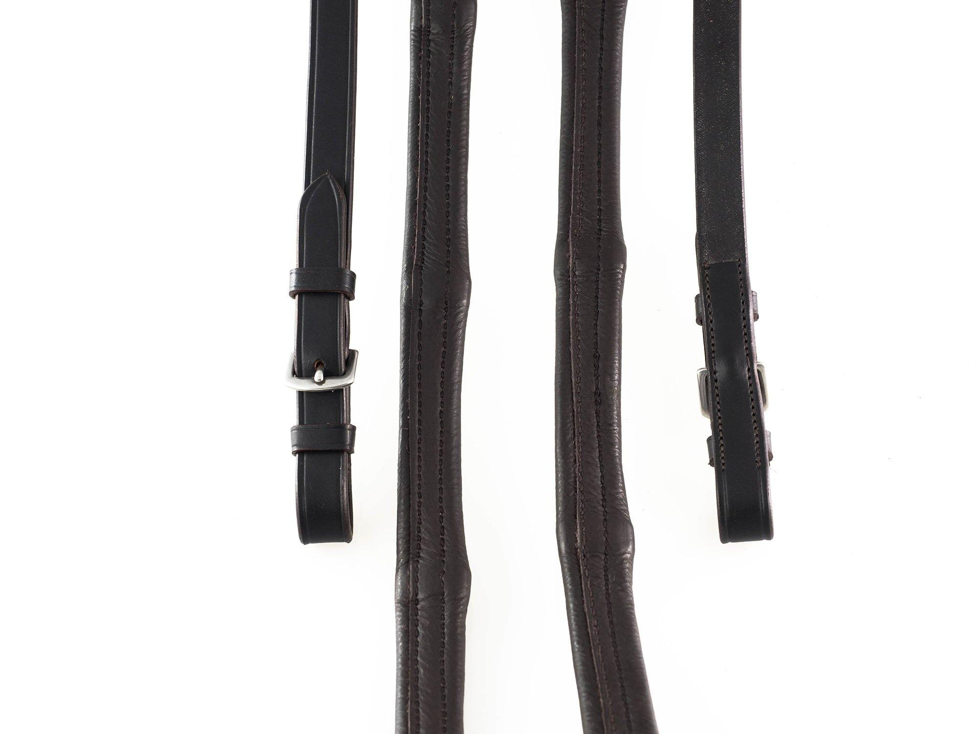 PADDED LEATHER 6/8 BUCKLE HAVANA REINS