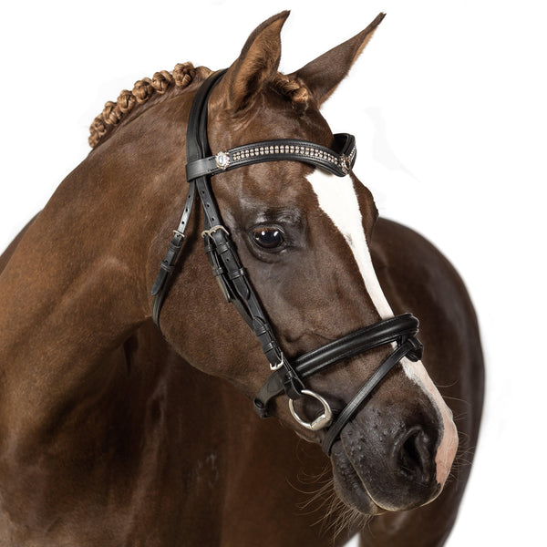Black Snaffle Bridle 'Spellbound' - Flexible Fit Equestrian Australia