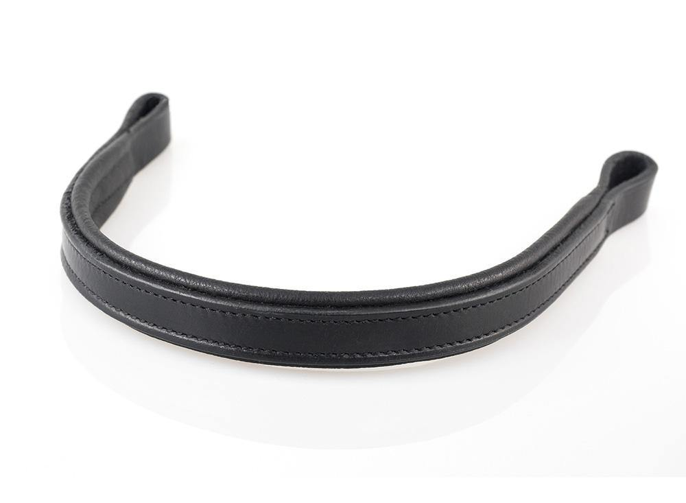 PLAIN FLAT PADDED - BLACK BROWBAND