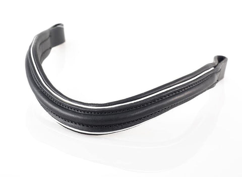 RAISED WAVE SILVER PIPE - BLACK BROWBAND