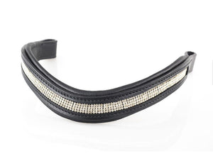 4 ROW WAVE BLACK - BLACK BROWBAND
