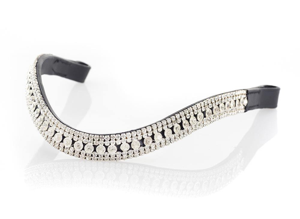 PRINCESS WAVE - BLACK BROWBAND - Flexible Fit Equestrian Australia