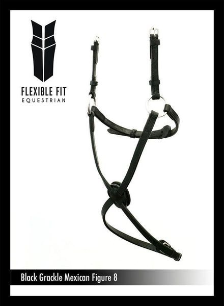 FIGURE 8 - BLACK NOSEBAND - Flexible Fit Equestrian Australia