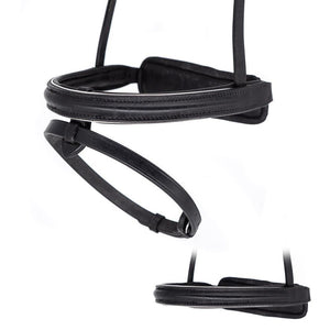 STRAIGHT RAISED SILVER PIPE CONVERTER EVENTER - BLACK NOSEBAND