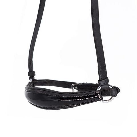 RAISED PATENT DROP - BLACK NOSEBAND