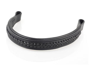 AMANDA PLAITED STRAIGHT - BLACK BROWBAND
