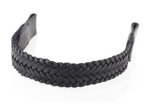 WEAVE OVERLAY - BLACK BROWBAND - Flexible Fit Equestrian Australia