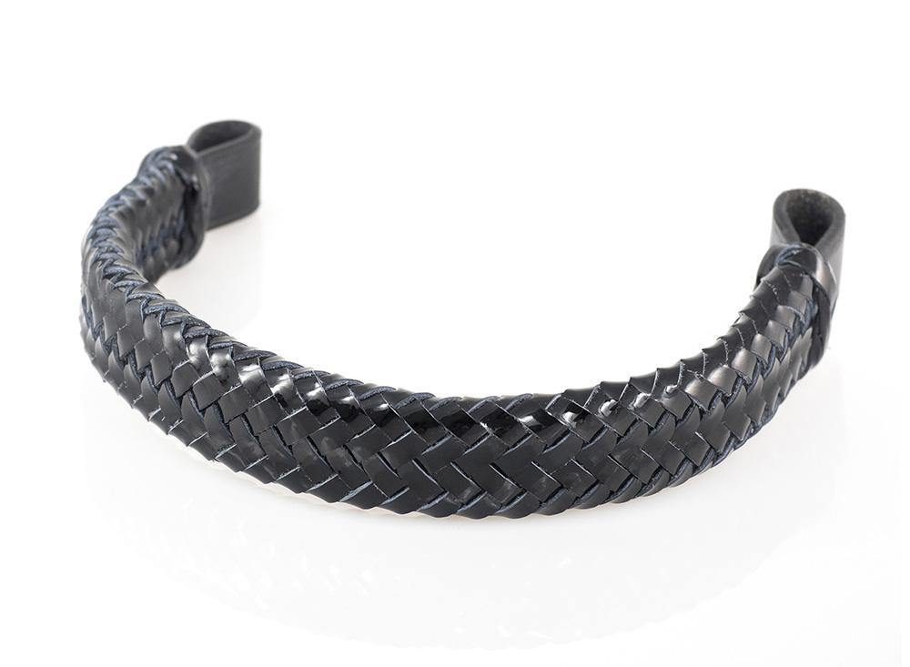 PATENT PLAITED - BLACK BROWBAND