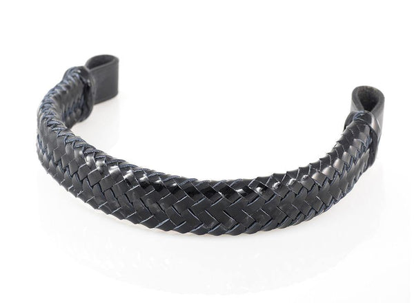PATENT PLAITED - BLACK BROWBAND - Flexible Fit Equestrian Australia