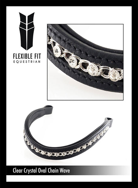 OVAL AND CLEAR WAVE - BLACK BROWBAND