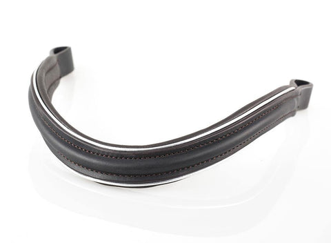 PLAIN RAISED WAVE SILVER PIPE - HAVANA BROWBAND