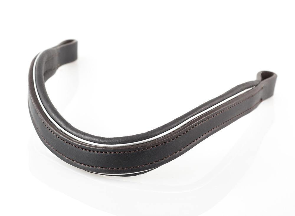 FLAT SILVER PIPE WAVE - HAVANA BROWBAND