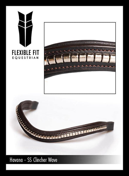 S/S CLINCHER WAVE - HAVANA BROWBAND