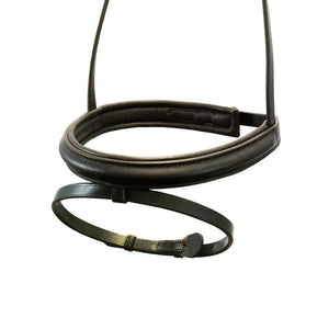 STRAIGHT RAISED PLAIN HANOVERIAN EVENTER - HAVANA NOSEBAND