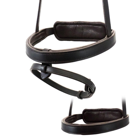 STRAIGHT FLAT PLAIN CONVERTER EVENTER - HAVANA NOSEBAND