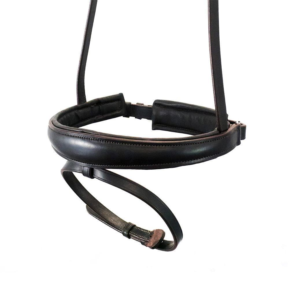 ANANTOMICAL RAISED PLAIN HANOVERIAN CRANK - HAVANA NOSEBAND - Flexible Fit Equestrian Australia