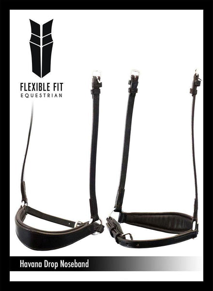 FLAT DROP - HAVANA NOSEBAND - Flexible Fit Equestrian Australia