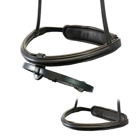 STRAIGHT RAISED 7/8 WIDE CONVERTER EVENTER - HAVANA NOSEBAND