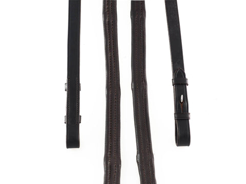 PADDED LEATHER 5/8 BILLETS HAVANA REINS