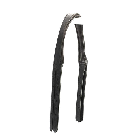 SNAFFLE GEL PADDED ANATOMICAL HEADPIECE 4/8 WIDE CHEEK STRAPS - HAVANA