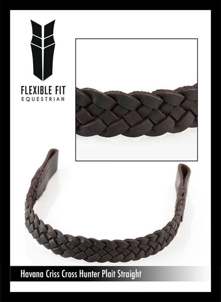 CRISS CROSS PLAIT - HAVANA BROWBAND - Flexible Fit Equestrian Australia